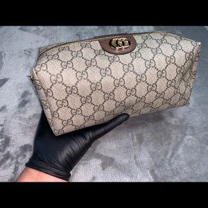 Gucci Ophidia Mini GG Supreme Cosmetics Clutch Bag